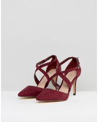 Carvela Kurt Geiger - Red Cross Strap Pointed Heeled Shoe - Lyst