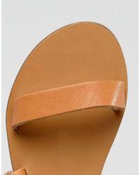 Warehouse - Brown Asymetric Strappy Sandal - Lyst