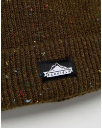 Penfield - Green Harris Multi Fleck Beanie In Olive for Men - Lyst