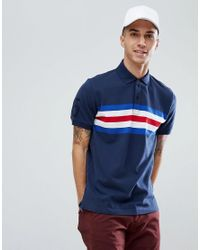 f63ca5a1fd1142 Lyst - Tommy Hilfiger Andrew Icon Chest Stripe Slim Fit Polo In Navy ...