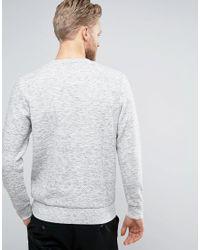 Jack & Jones - Gray Premium Quilted Sweatshirt for Men - Lyst