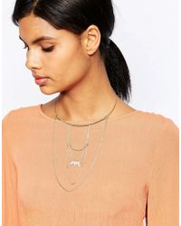 Orelia | Metallic Relia Draped Torque Necklace | Lyst