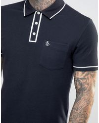 Original Penguin - Black The Earltm Polo for Men - Lyst