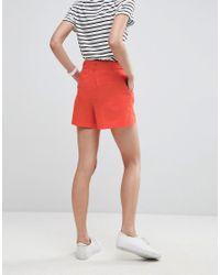 ASOS - Orange Asos Tailored D-ring Linen Shorts - Lyst