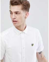 Lyle & Scott - White Short Sleeve Oxford Shirt for Men - Lyst