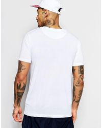 Hype - White T-shirt With Camo Script for Men - Lyst