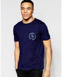Original Penguin - Logo T-shirt - Blue for Men - Lyst