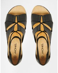 Monki - Black Gillian Sandal - Lyst