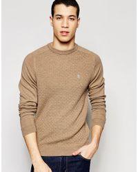 Original Penguin | Natural Merino Wool Knitted Sweater for Men | Lyst