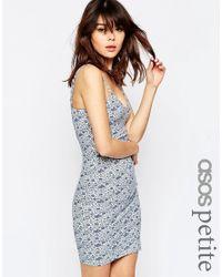 ASOS | Multicolor Mini Cami Bodycon Dress In Ditsy Print | Lyst