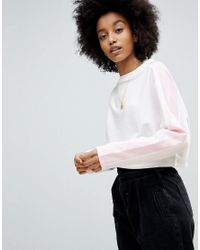 ASOS - Multicolor Sweat In Boxy With Colourblock Panels - Lyst