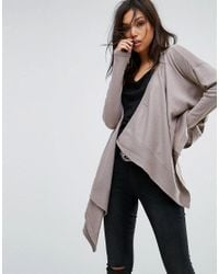 Bolongaro Trevor - Gray Wrap Knit Cardigan - Lyst