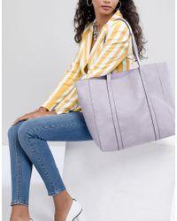 Accessorize - Purple Lilac Oversized Tote Bag - Lyst