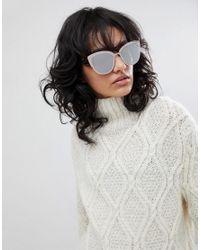Quay - White Super Girl Sunglasses - Lyst