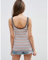 ASOS - Blue Vest In Bright Stripe With Tipping - Lyst