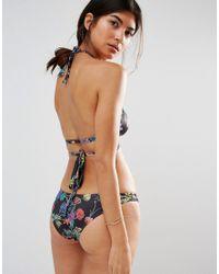 ASOS - Black Fuller Bust Exclusive Wild Flower Print Brazilian Bikini Bottom - Lyst