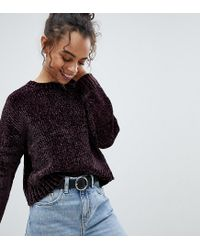 New Look - Red Chenille Jumper - Lyst