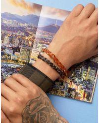 ASOS - Brown Braid Bracelet Pack for Men - Lyst