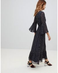 Y.A.S - Blue Printed Soft Maxi Dress - Lyst