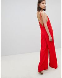 02e9c3ece879 Ba sh Wide Leg Jumpsuit in Red - Lyst