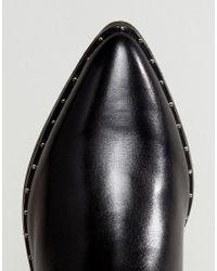 Steve Madden - Black Doruss Leather Studded Boots - Lyst