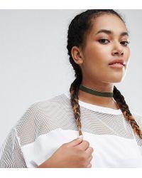 ASOS | Green Basic Velvet Choker Necklace | Lyst