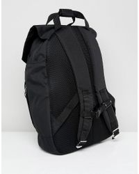 ASOS - Black Asos Backpack With Chain Detail And Double Strap And Internal Laptop Pouch for Men - Lyst