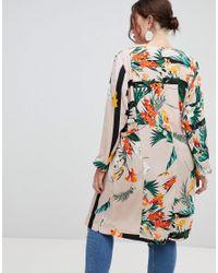 River Island - Multicolor Tropical Print Duster Coat - Lyst