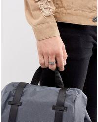 Icon Brand - Metallic Feather Wrap Ring In Gunmetal for Men - Lyst