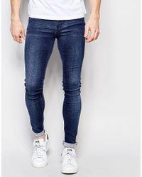 Dr. Denim | Blue Jeans Kissy Low Spray On Extreme Super Skinny 2nd Hand Light Wash for Men | Lyst