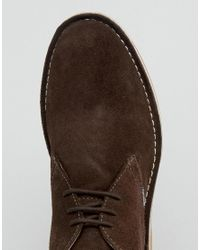 Lambretta - Lambratta Desert Boots In Brown Suede for Men - Lyst