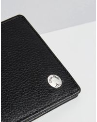 Calvin Klein - Wallet Leather 8cc Slim Fold - Black for Men - Lyst