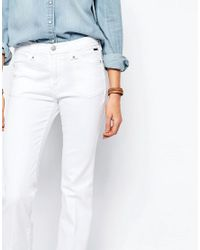 Pepe Jeans | White Melissa Flare With Front Pocket | Lyst