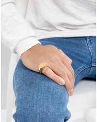 Seven London - Metallic Gold Pinky Ring for Men - Lyst