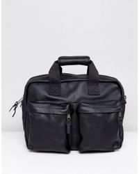 Eastpak - Tomec Laptop Bag In Black Leather for Men - Lyst