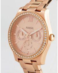Fossil - Metallic Es4315 Scarlette Mini Bracelet Watch In Rose Gold - Lyst