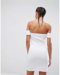 ASOS - White Bardot Body-conscious Dress - Lyst
