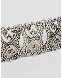 ASOS - Metallic Filigree Link Bracelet - Lyst