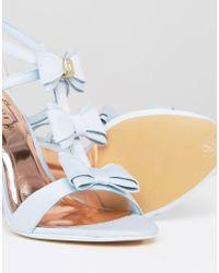Ted Baker - Appolini Light Blue Bow Heeled Sandals - Lyst