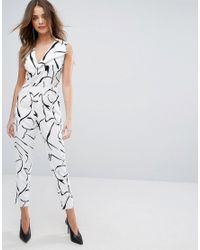 Lavish Alice - Multicolor Tailored Jumpsuit In Abstract Print - Lyst