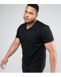 ASOS | Plus T-shirt With V Neck In Black for Men | Lyst