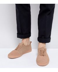 ASOS - Asos Lace Up Trainers In Pink Suede for Men - Lyst