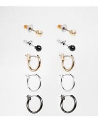 ASOS | Multicolor Earring Pack With Hoops And Studs for Men | Lyst