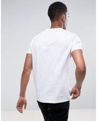 ASOS - White T-shirt With V Neck for Men - Lyst
