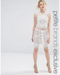 True Decadence | White Co-ord Premium Lace Overlay Mini Skirt | Lyst