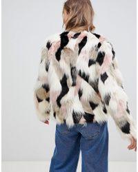Lavand - Multicolor Multi Coloured Faux Fur Jacket - Lyst