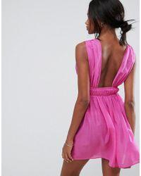 ASOS - Pink Beach Skater Sundress - Lyst