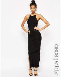 ASOS | Maxi Dress With 90s High Neck - Black | Lyst
