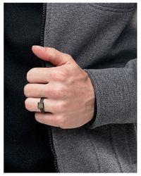 ASOS - Ring In Black Semi Precious Look Stone for Men - Lyst