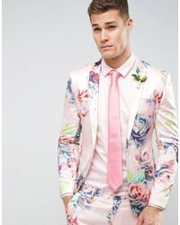 ASOS - Wedding Tie In Pink for Men - Lyst